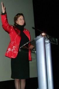 Carol Ring Speaker at Podium