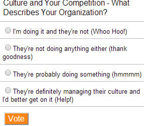 Culture and Your Competition Poll