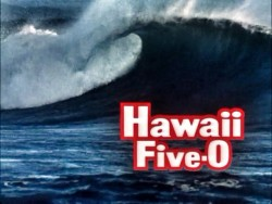 Hawaii Five-O T.V. Show Image with Ocean Wave