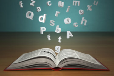 Words floating out of book -- Create a Winning Culture with One Key Word!