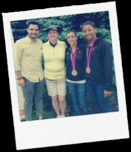 Carol Ring Corporate Culture Consultant with Olympians