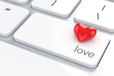 Red Heart of Love on Enter Key on Keyboard