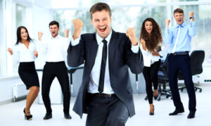 Happy Successful People at Company Office